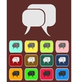 Flat icon of a communication - dialogue vector image