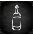 Hand Drawn Bottle of Wine vector image