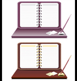 Notebook with pen isolated vector image