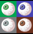 spooky eyeballs vector image