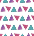 Watercolor triangles pattern vector image