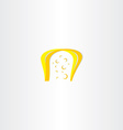 yellow cheese icon vector image