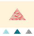 Japan Style Ocean Water Triangle vector image vector image