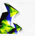 3d triangles and pyramids abstract geometric vector image vector image