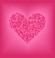 rose diamond heart on pink and rose background vector image