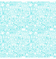 line contact white seamless pattern vector image