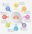 infographic template with hospital icons vector image
