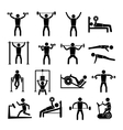 Workout Training Icons Set vector image