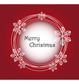Merry christmas frame background vector image vector image