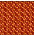 Abstract Geometric Orange Seamless Background vector image vector image