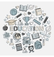 Education set in the form of a circle vector image