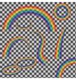 set of rainbows vector image