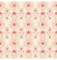 beige retro pattern vector image