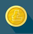 litecoin icon as golden coin vector image