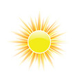 sun yellow vector image