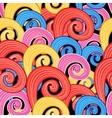 Pattern multicolored swirls vector image