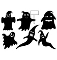 Set Of Different Ghosts vector image