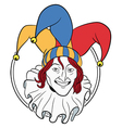 Jester face vector image