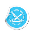 NOsmoking BLUE LABEL vector image