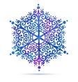 Watercolor snowflake vector image