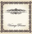vintage frame decor ornament vector image vector image
