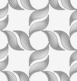 Perforated striped leafy shapes forming cross vector image