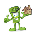 cartoon money with damaged homes vector image