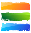 grunge color banners vector image