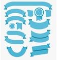 Ribbons Flat Design Set Blue vector image