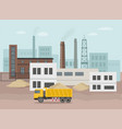 building factory industry zone construction vector image