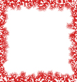 Christmas border with snowflakes vector image