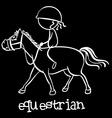 Equestrian vector image