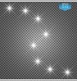 lights on transparent background white glitter vector image
