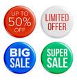 sale badges set discount special offer vector image
