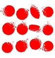 set of red broken shapes vector image