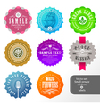 Set of small labels and stickers vector image