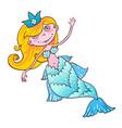 sweetheart mermaid kawaii girl naiad maritime vector image