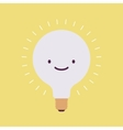 Brightly flickering bulb with a smile vector image