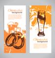 Banners of Oktoberfest beer design vector image
