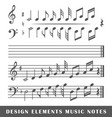 music notes vector image