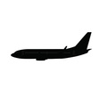 Single medium size aircraft silhouette vector image vector image