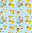 Seamless ducks vector image vector image