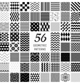 56 Geometric Seamless Patterns vector image