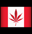 cannabis canada flag vector illustration vector image vector image