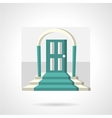 Entrance with arch flat icon vector image vector image