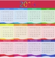 2016 Calendar  New Year vector image