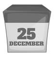 Calendar december twenty five icon vector image