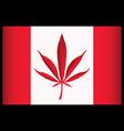 cannabis canada flag vector illustration vector image