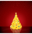 Christmas Background with Bright Tree vector image
