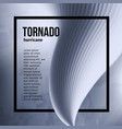 isolated abstract tornado hurricanenatural vector image